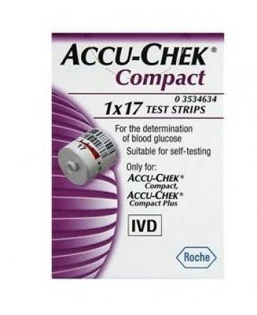 ACCU CHEK COMPACT STRISCE 17 PZ