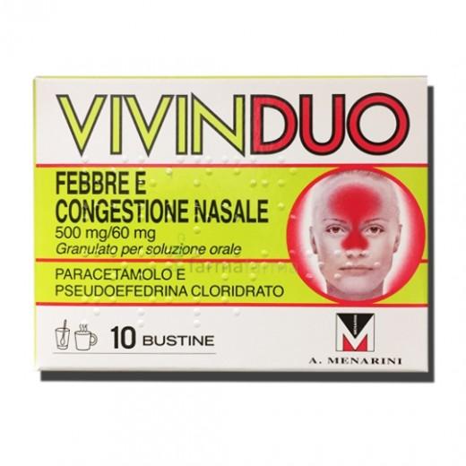 vivinduo febbre congestione nasale 10 bustine